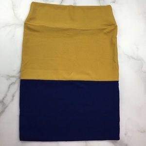 LuLaRoe Womens Cassie Pencil Skirt Color Block